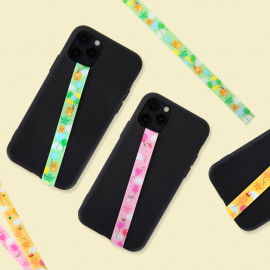 [S2B] KAKAOFRIENDS Oh Happy Day Phone Strap _RYAN APEACH MUZI, Finger Strap Phone Grip Holder Compatible with All Smartphone Cases, with iPhone, Samsung Galaxy, Tablet, LG, Sony, HTC and More