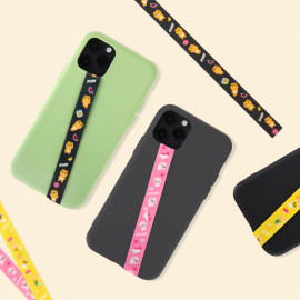 [S2B] KAKAOFRIENDS We are KF Phone Strap _RYAN APEACH MUZI, Finger Strap Phone Grip Holder Compatible with All Smartphone Cases, with iPhone, Samsung Galaxy, Tablet, LG, Sony, HTC and More