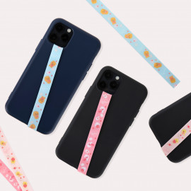[S2B] KAKAOFRIENDS Little Friends Phone Strap _RYAN APEACH MUZI, Finger Strap Phone Grip Holder Compatible with All Smartphone Cases, with iPhone, Samsung Galaxy, Tablet, LG, Sony, HTC and More