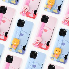 [S2B] KAKAOFRIENDS Strap Card Hard Case for iPhone_ Hard Case Protective Cover for iPhone 12/12Pro/12Mini/11/11Pro/11 Pro Max/XR, Made in Korea