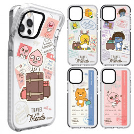 [S2B] Kakao Friends Travel Transparent Line Case 8 Types_ Galaxy S,Galaxy Note _Full Body Protective Cover Compatible For Samsung Galaxy, Made in Korea