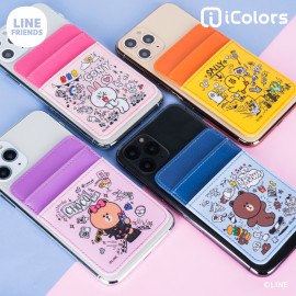 [S2B] LINE FRIENDS Card Pocket _Smartphone Card Holder Pocket for iPhone, SAMSUNG Galaxy Android All Smartphones Made in Korea
