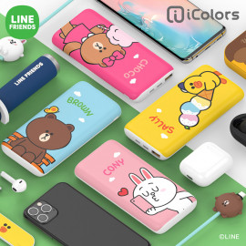 [S2B] LINE FRIENDS Wireless Power Bank 10,000mAh _ BROWN, CONY, SALLY, CHOCO, Portable Charger with iPhone, Samsung Galaxy, Tablet & etc