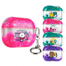 [S2B] Line Friends Barsity Bling Aqua AirPods Pro Case_ Airpods Compatible Strong Material Case .AirPods Pro_Made in Korea