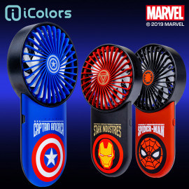 [S2B] MARVEL Mini Fan_ USB Rechargeable Battery Operated, Handheld Fan, Mini Portable Hand Fan, 3 Speeds Cooling Electric Fan for Indoor Outdoor