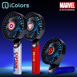 [S2B] MARVEL Handy Fan_ USB Rechargeable Battery Operated, Handheld Fan Personal Fans Mini Portable Hand Fan, 3 Speeds Cooling Electric Fan for Indoor Outdoor