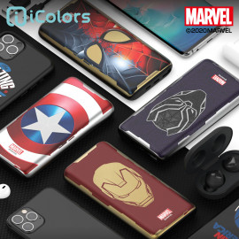[S2B] MARVEL Metal Power Bank 10,000mAh _ Iron Man Captain America Spider-Man Black Panther, Portable Charger Quick Charging with iPhone, Samsung Galaxy, Tablet & etc
