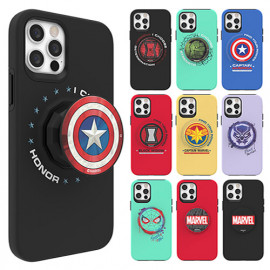 [S2B] MARVEL Icons Tok Case for Samsung Galaxy Note _  Soft Jelly Phone Grip case Full Body Protective Cover For Samsung Galaxy Note 20/20Ultra/10/10Plus/9, Made In Korea