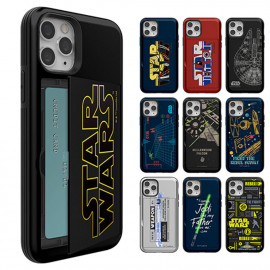 [S2B]Star Wars Force Open Card Case _ 2 cards available for storage, Double Protection Wallet Bumper For iPhone,  Made in Korea