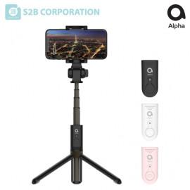 [S2B] Alpha Tripod Selfie Stick _ Tripod Selfie Stick with Wireless Remote, Compatible with iPhone 12 Pro Max/SE 2020/11/XS, Galaxy S21/Note 20/S10, Google etc