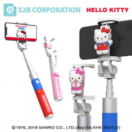 [S2B] Hello Kitty Selfie Stick _ Compatible With IPhone 12 Pro Max/SE 2020/11/XS, Galaxy S21/Note