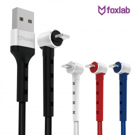 [S2B] FOXLAB Stand Cable _ MFi C89 Cable, Micro USB Cable, USB Type C Cable, Cable Compatible with iPhone, Samsung Galaxy, Android Phone, Tablet, iPad