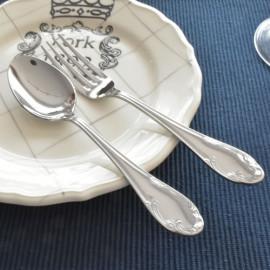 [HAEMO] Lotte Table Spoon/Fork  _  Reusable Stainless Steel Korean Chopsticks Spoon Tableware Home, Kitchen or Restaurant,Made in korea,
