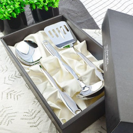 [HAEMO] Beauty Living Kitchen Tool 3P Set  _ Reusable Stainless Steel Korean Chopstix Spoon Tableware Home, Kitchen or Restaurant,Made in korea,