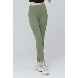 [AIRLAWLESS] CLWP9112 Daily Free Leggings Green Khaki, Yoga Pants, Workout Pants For Women _ Made in KOREA