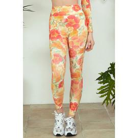 [Cielcoco] CLWP9129 Marimond, Regen Artwork Leggings, Trumpet Creeper, Yoga Pants, Sweatshirt, Sportswear, Indoor Wear, Women's Fashion _ Made in KOREA