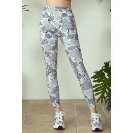 [Cielcoco] CLWP9129 Marimond, Regen Artwork Leggings, Trumpet Creeper_Black, Yoga Pants, Sweatshirt, Sportswear, Indoor Wear, Women's Fashion _ Made in KOREA