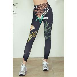 [Cielcoco] CLWP9129 Marimond, Regen Artwork Leggings, Fish in the Forest_Black, Yoga Pants, Sweatshirt, Sportswear, Indoor Wear, Women's Fashion _ Made in KOREA