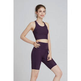 [AirFlawless] CLWP3007 Short Leggings Red Bean, Yoga Pants, Shorts pants, Workout Pants For Women _ Made in KOREA