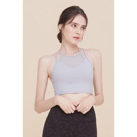 [Surpplex] CLWT4031 Align Mild Bra Top Silver, Gym wear,Tank Top, yoga top, Jogging Clothes, yoga bra, Fashion Sportswear, Casual tops For Women _ Made in KOREA