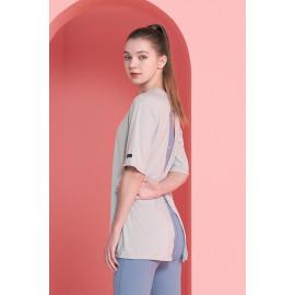 [Cielcoco] CLWT8080 Open back T-shirt_ Dust Sky_  short-sleeved T-shirt, summer shirt, sweatshirt, sportswear, indoor wear, women's fashion _ Made in KOREA