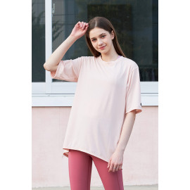[Cielcoco] CLWT8080 Open back T-shirt _Pink, short-sleeved T-shirt, summer shirt, sweatshirt, sportswear, indoor wear, women's fashion _ Made in KOREA