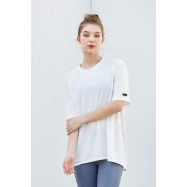 [Cielcoco] CLWT8080 Open back T-shirt_ White_  short-sleeved T-shirt, summer shirt, sweatshirt, sportswear, indoor wear, women's fashion _ Made in KOREA