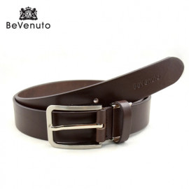 [BeVenuto] BVB2T.35.DB Men's Italian Leather Belt 32mm _ Classic Casual Dress Belts with Prong Buckle Made in Korea
