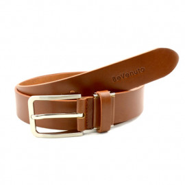 [BeVenuto] BVB2T.35.LB Men's Italian Leather Belt 32mm _ Classic Casual Dress Belts with Prong Buckle Made in Korea