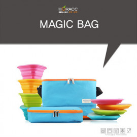 [Moracc] Magic Bag Green _ Collapsible Cooler Bag for Lunch, Grocery Shopping, Camping, Made in Korea