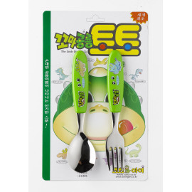 [Solingen] Toto Spoon Fork Set, For Infant, Stainless Steel, Stainless Steel (27) _ Made in KOREA