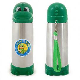 [Solingen] Children's Dinosaur Water Bottle, 240ml, Stainless Steel,  Warm/Cool Water Bottle _ Made in KOREA