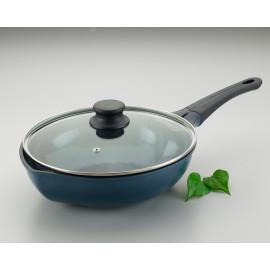 [Solingen] Leaf Wok 28 (Glass Lid), Die-Casting (Aluminum), Ceramic coating _ Made in KOREA