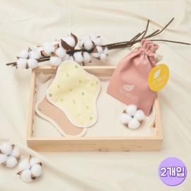 [ECOUS] Comfortable Cotton Panti Liner 2P _ Eco Sanitary Pads, Organic Cotton, Daily Sanitary Pads, Reusable Cotton Pads, Menstrual Pads, Made in Korea