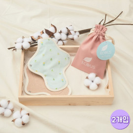 [ECOUS] Comfortable Cotton Small Pad 2P _ Eco Sanitary Pads, Organic Cotton, Organic Reusable Cotton Pads, Menstrual Pads, Made in Korea