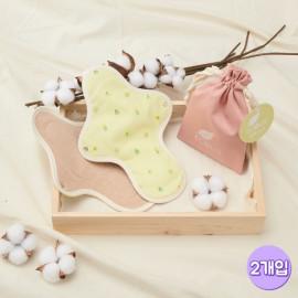 [ECOUS] Comfortable Cotton Regular Pad 2P _ Eco Sanitary Pads, Organic Cotton, Organic Reusable Cotton Pads, Sanitary Napkins, Menstrual Pads, Made in Korea