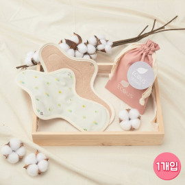 [ECOUS] Comfortable Cotton Large Pad _ Eco Sanitary Pads, Organic Cotton, Organic Reusable Cotton Pads, Sanitary Napkins, Menstrual Pads, Made in Korea
