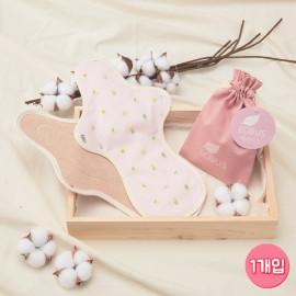 [ECOUS] Comfortable Cotton Overnight Pad _ Eco Sanitary Pads, Organic Cotton, Organic Reusable Cotton Pads, Sanitary Napkins, Menstrual Pads, Made in Korea