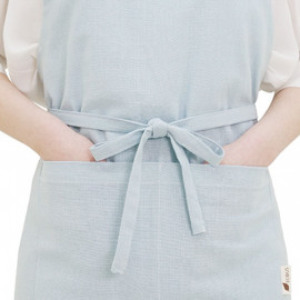 [ECOUS] 100% Embossing Cotton Apron _ Apron Pocket Kitchen Made in Korea